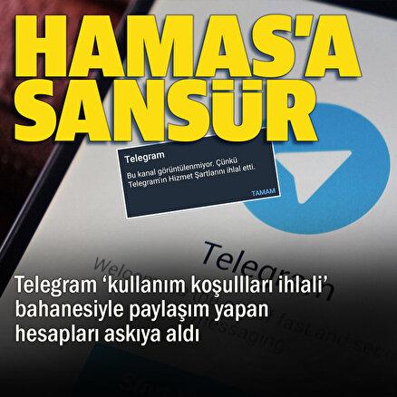 Telegramdan Hamasa sansür: Aktif kullanılan hesaplar askıya alındı