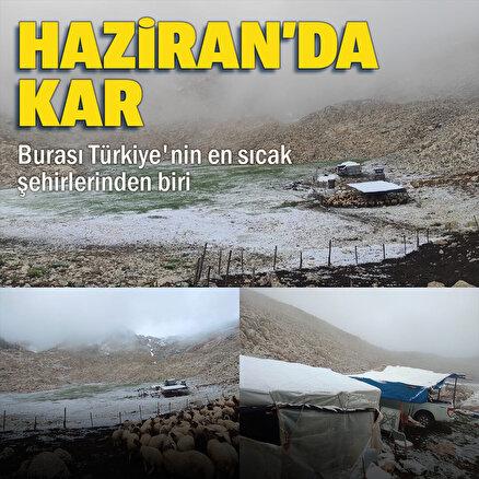 Antalyanın Kaş ilçesinde yüksek kesimlere kar yağdı