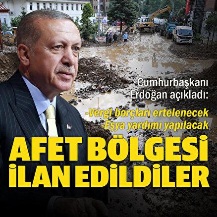 Cumhurbaşkanı Erdoğan açıkladı