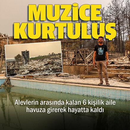 Alevlerin arasından mucize kurtuluş: 6 kişilik aile havuza girerek hayatta kaldılar