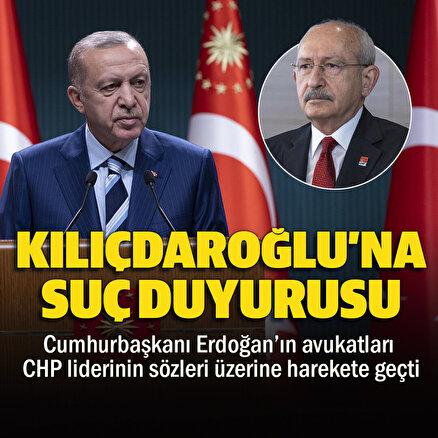 Kılıçdaroğluna suç duyurusu