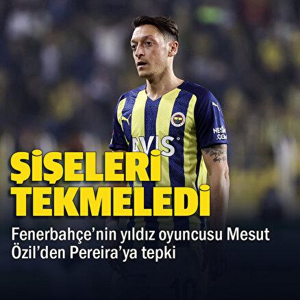 Mesut Özil oyundan alınacağını öğrenince Pereiraya tepki gösterdi