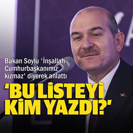 İçişleri Bakanı Süleyman Soylu size bir hikayemi anlatacağım diyerek aktardı: İnşallah Cumhurbaşkanımız bana kızmaz