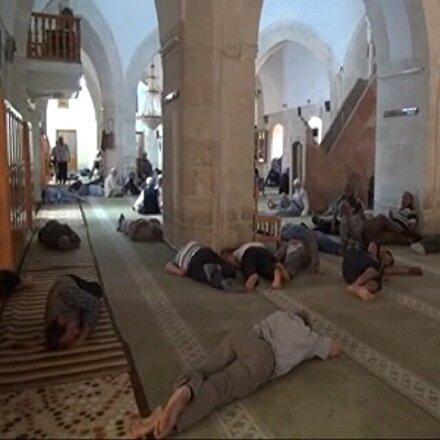 Şanlıurfada camilerde Ramazan uykusu