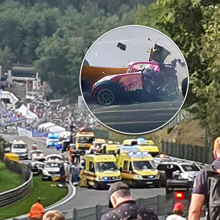 Formula 2de yürekleri ağza getiren kaza