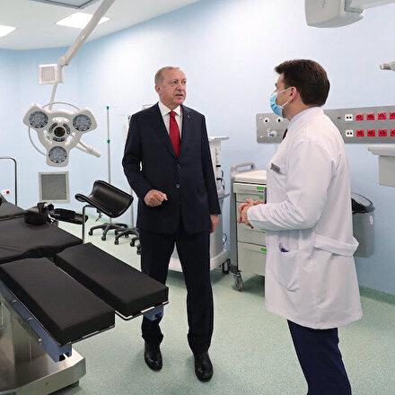 Cumhurbaşkanı Erdoğan açılışını yapmak üzere Sancaktepe Prof. Dr. Feriha Öz Acil Durum Hastanesi'ne geldi