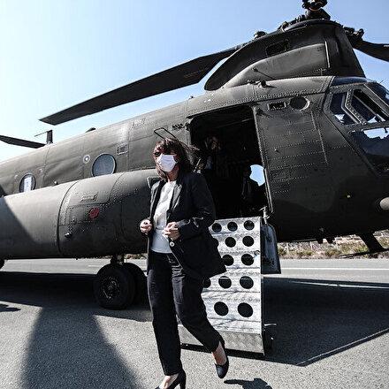 Dikkat çeken ziyaret: Yunanistan Cumhurbaşkanı Katerina Sakelaropulu Meis Adasında