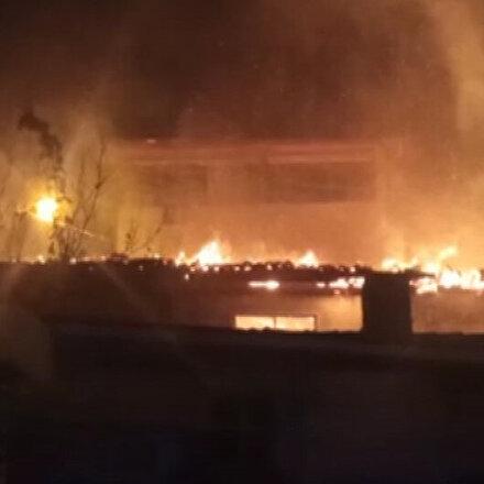 Amasyada, evde çıkan yangına müdahale eden bir itfaiye eri yaralandı
