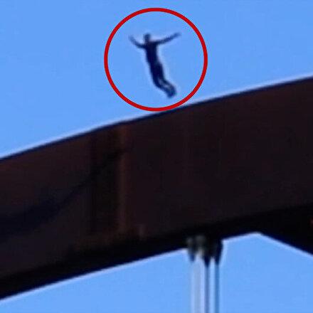 Köprüden nehre atlayarak kafatasını kıran YouTuberın tehlikesi gösterisi kamerada