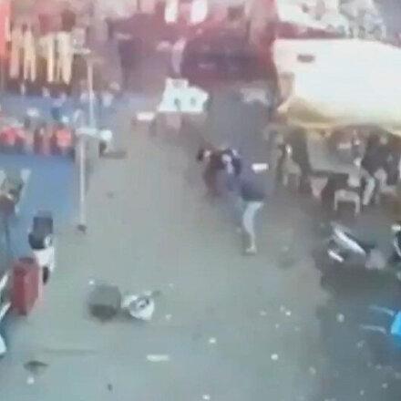 Irakta meydana gelen saldırıda patlama anı kamerada