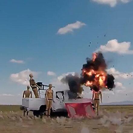 Kamikaze drone Alpagu hedefi tam isabetle vurdu
