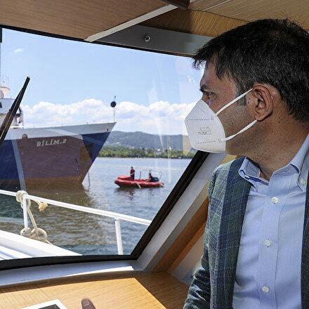 Çevre ve Şehircilik Bakanı Murat Kurum: Marmara Denizinde 4 bin 929 metreküp müsilaj topladık