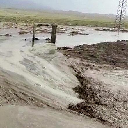 Ağrıda sağanak sele dönüştü: Ev ve tarlalar sular altında kaldı