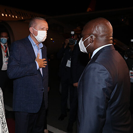 Cumhurbaşkanı Erdoğan Angolada