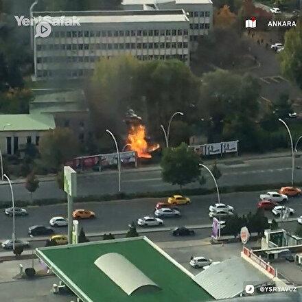 Ankarada şiddetli patlama: Doğal gaz hattında olduğu değerlendiriliyor