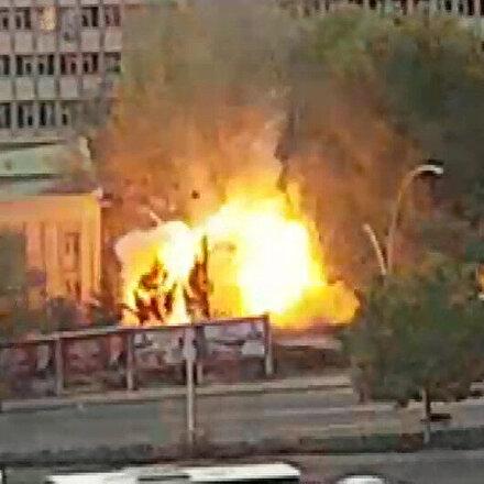 Ankara MTA yerleşkesinde şiddetli patlama: Vatandaşın yaşadığı panik anbean kaydedildi