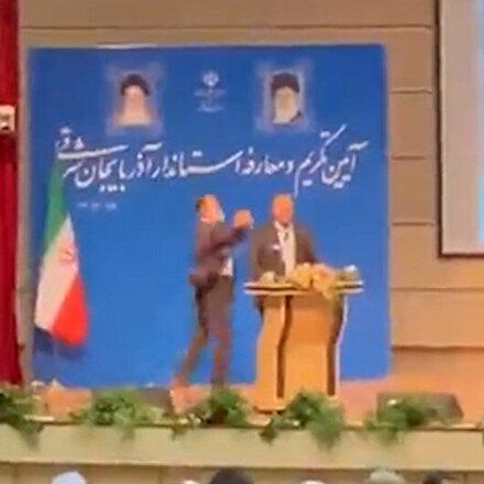 İran'ın Doğu Azerbaycan valisine tokatlı saldırı
