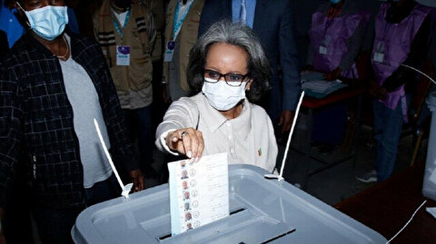 Ethiopian president casts ballot in nationwide elections