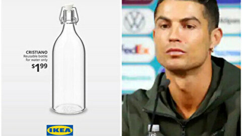'Cristiano' water bottle becomes a thing after Ronaldo's Coca-Cola saga