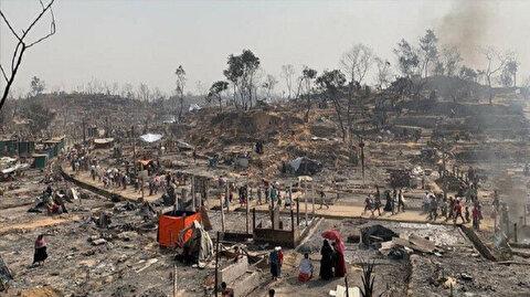 Fire guts over 60 Rohingya tents at camp in Bangladesh