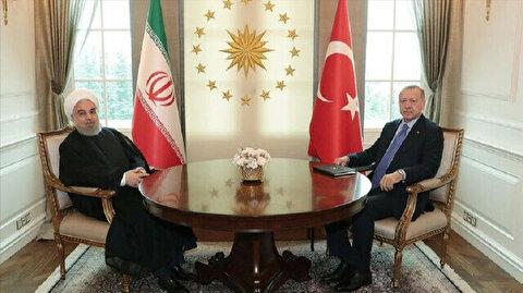Turkish leader, outgoing Iranian president talk bilateral ties