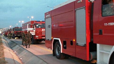 Azerbaijan sends 53 fire trucks to Turkey to fight wildfires