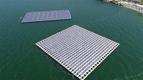 Turkey's first floating solar power plant