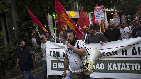 يونانيون يحتجون ضد مشروع قانون لتقييد المظاهرات