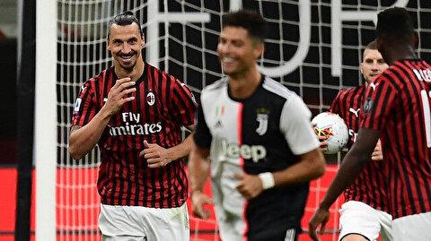 Milan Juventus maçına Ibrahimovic ve Ronaldo damga vurdu
