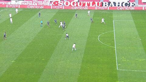 Samsunspor-Balıkesirspor maçında tartışma çıkartan 'ofsayt' kararı