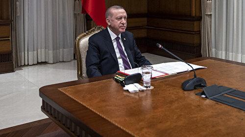 Cumhurbaşkanı Erdoğan Fransız mevkidaşı Macron ile görüştü