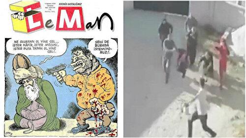 Leman'dan tepki çeken karikatür: Gerçekleri görmezden gelip ırkçılığı körüklemeye çalıştı