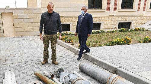 Aliyev'den işgalden kurtulan Füzuli'ye ziyaret: Gelen herkes Ermeni vahşetini görüyor