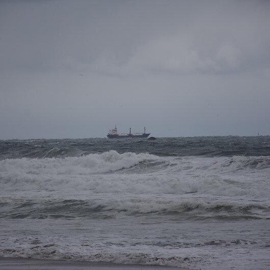 Bartın açıklarında gemi battı