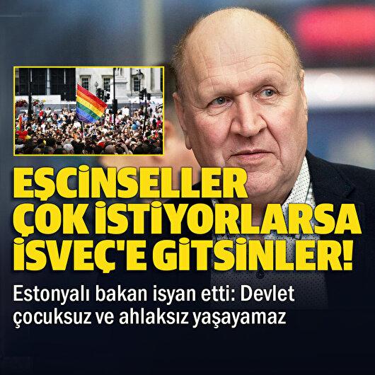 Estonya İçişleri Bakanı: Eşcinseller İsveç'e gitsin, ülkemiz ahlak olmadan yaşayamaz