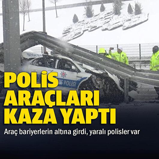 Beşiktaş'ta sivil polis aracı trafik polisi aracına arkadan çarptı: 3 polis yaralandı