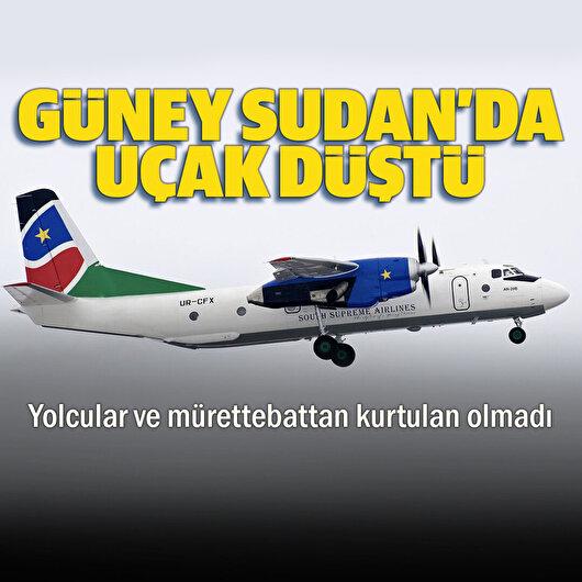 Güney Sudan'da <br>yolcu uçağı düştü