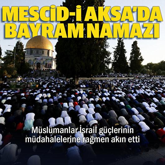 Mescid-i Aksa'da bayram namazı