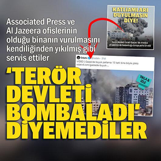 OdaTV İsrail'in Gazze'de basın binasını bombalama haberini