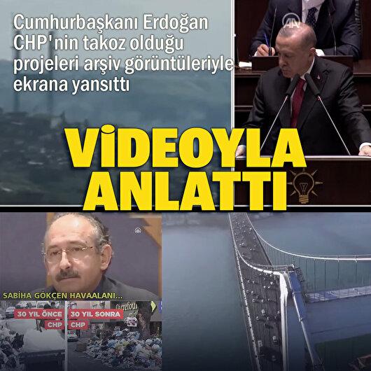 Cumhurbaşkanı Erdoğan'dan yatırımlara karşı çıkan muhalefete videolu cevap