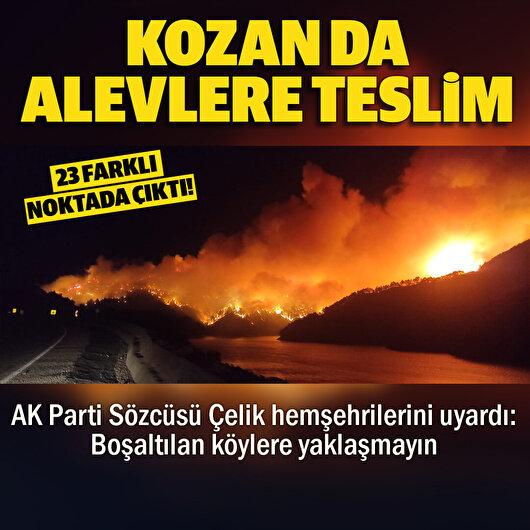 Kozan'da alevler yeniden yükseldi: 23 farklı noktada yangın