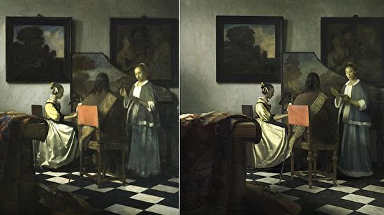 17. yüzyıldan kalma sanat eserinin aynısını photoshop ile yapan adam