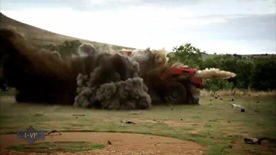 Mayın patlamasından etkilenmeyen 10 tonluk zırhlı araç