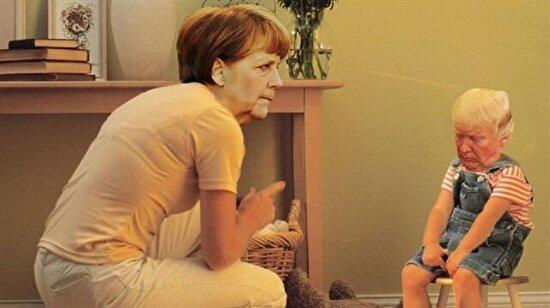 Dünya bu kareleri konuşuyor: Merkel yine maskara oldu