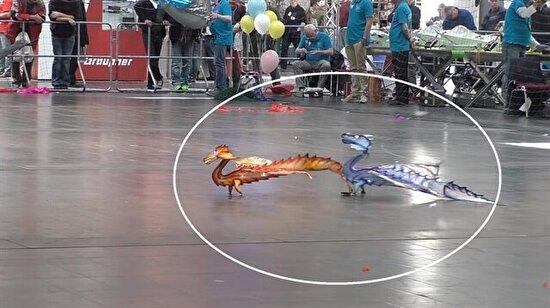 RC model ejderhalar böyle uçtu!