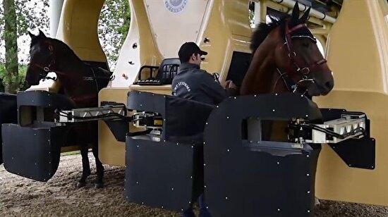 Yarış atlarına son model eğitim!