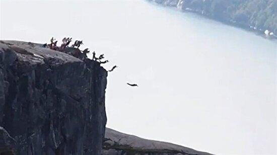 Kjerag Dağı'ndan atlayan korkusuz cengaverler
