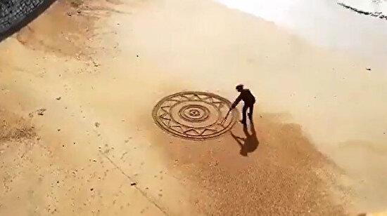 Kumsalda dev bir dantel