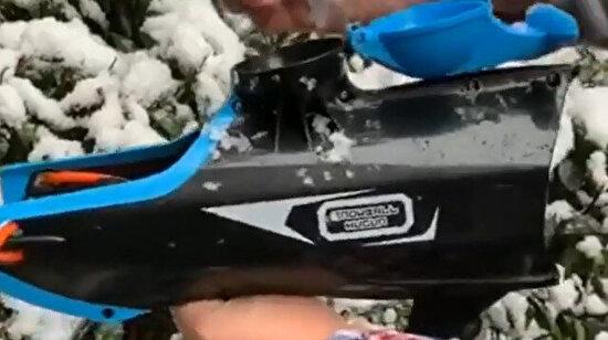Bir miktar hayal kırıklığına uğratan kar topu tabancası