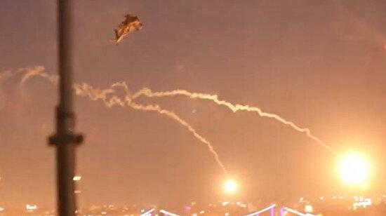 ABD helikopterinden Bağdat'ta uyarı ateşi